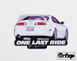 One Last Ride (Brian's Supra) Printed Sticker