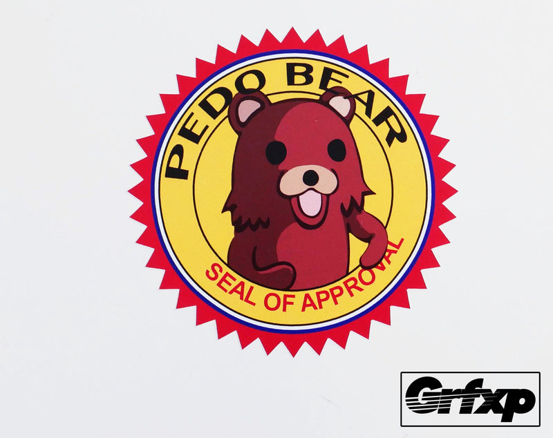 pedobear seal of approval printed sticker grafixpressions