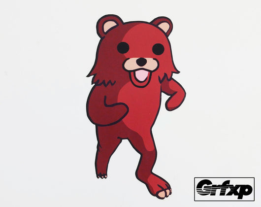 Pedobear Running Printed Sticker