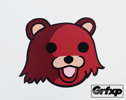 Pedobear Head Printed Sticker