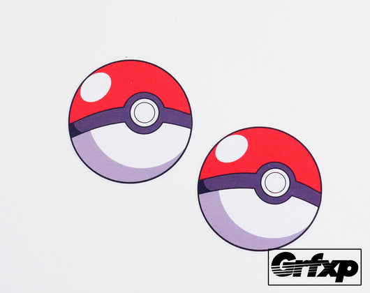 Pokeball Printed Sticker (two pack)