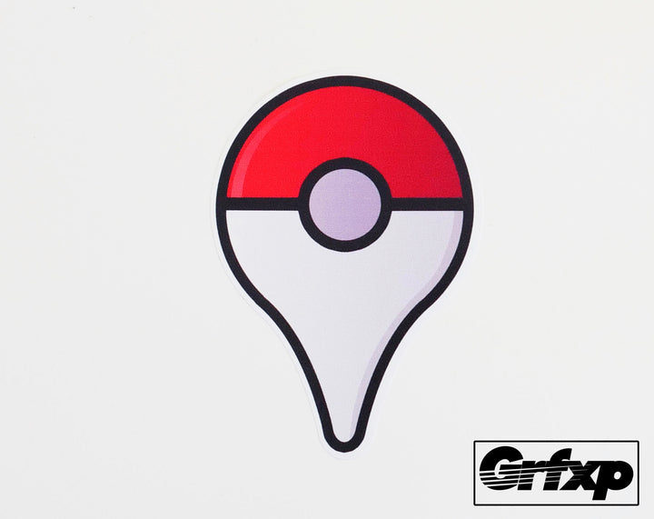 Pokestop Marker Printed Sticker