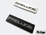Custom Brushed Steel Console Badges