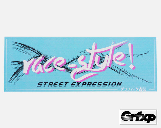 Race Style, Street Expressions Printed Sticker