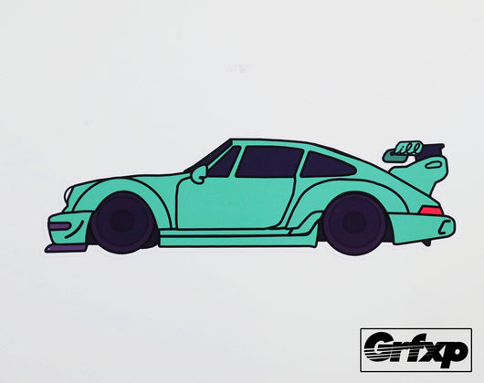 Rauh Welt Porsche Green Printed Sticker