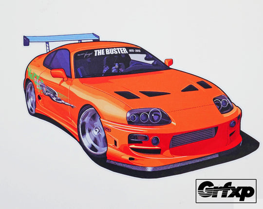 Never Forget the Buster Supra (Donation) Printed Sticker