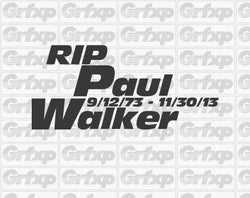RIP Paul Walker Sticker
