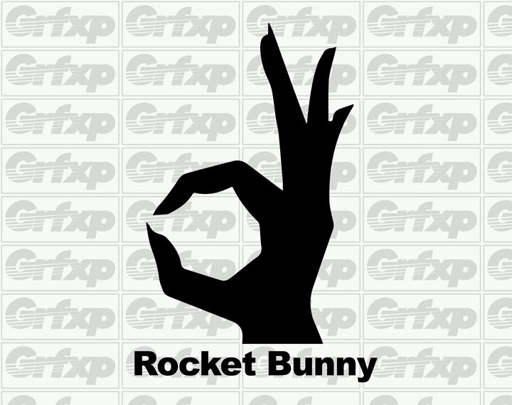 Rocket Bunny Logo Sticker