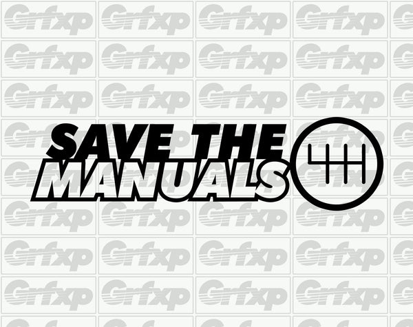 Save the Manuals Sticker