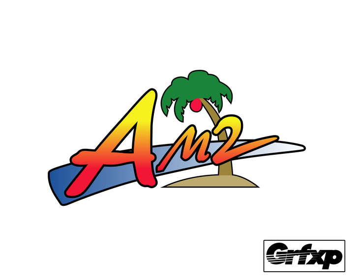 SEGA AM2 Logo Printed Sticker