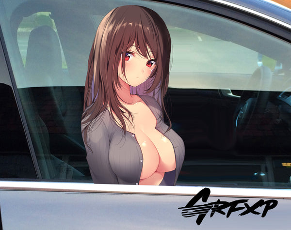 Anime Girl (Sexy Look) Passenger Window Graphic