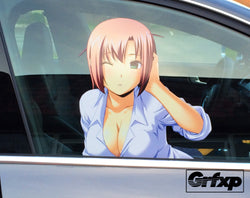 Sexy Anime Girl Passenger Window Graphic