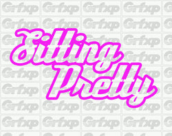 Sitting Pretty Sticker