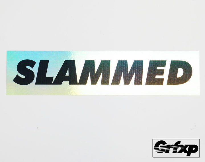 SLAMMED Oil Slick Printed Sticker