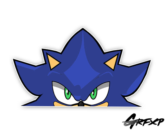 Sonic the Hedgehog Peeker Printed Sticker