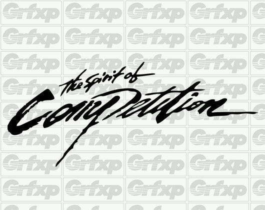 The Spirit of Competition Sticker