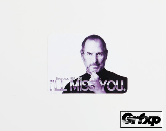 Steve Jobs Tribute Printed Sticker