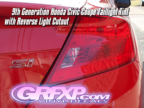 Taillight Overlays w/ Reverse Cutouts for 9thGen Honda Civic Coupe (2012-2013)