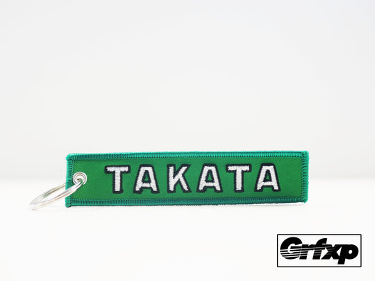 Takata - Go for Green Embroidered Keychain