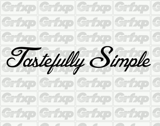Tastefully Simple Sticker