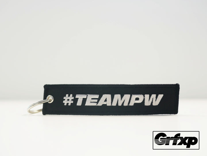 #TEAMPW (Team Paul Walker) Embroidered Keychain