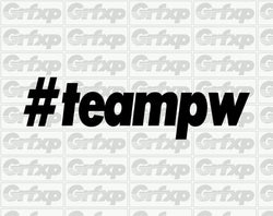 #teampw Hashtag team Paul Walker Sticker
