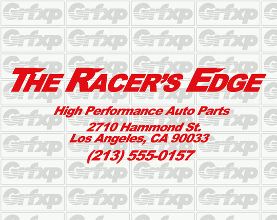 Racer's Edge Sticker