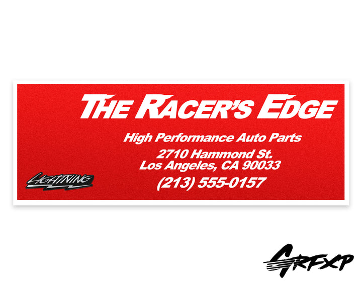 Fast & Furious Racer's Edge Throwback Printed Sticker