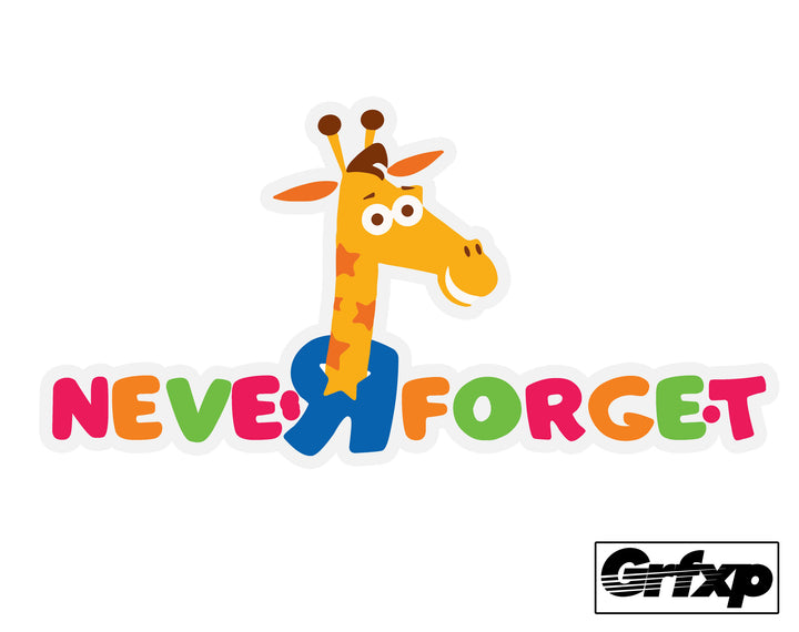 Neve R Forget Geoffrey (ToysRUs) Printed Sticker