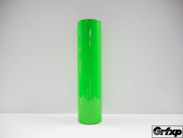 Transparent Lime Green Vinyl (by the foot)