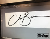 Create Your Own Signature Vinyl Stickers!