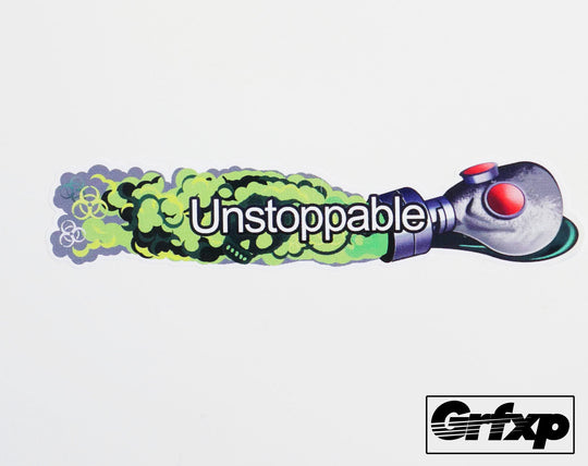 Unstoppable Gas Mask MW3 Title Printed Sticker