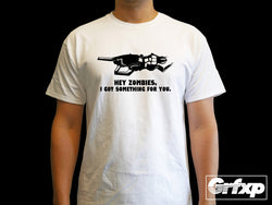 V-R11, Hey Zombies, I Got Something For You T-Shirt
