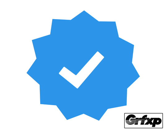 Verified Badge Printed Sticker (two pack)