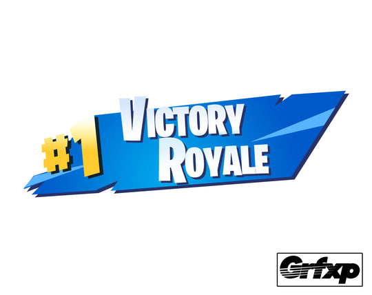 #1 Victory Royale (Season 5 Version) Fortnite Printed Sticker