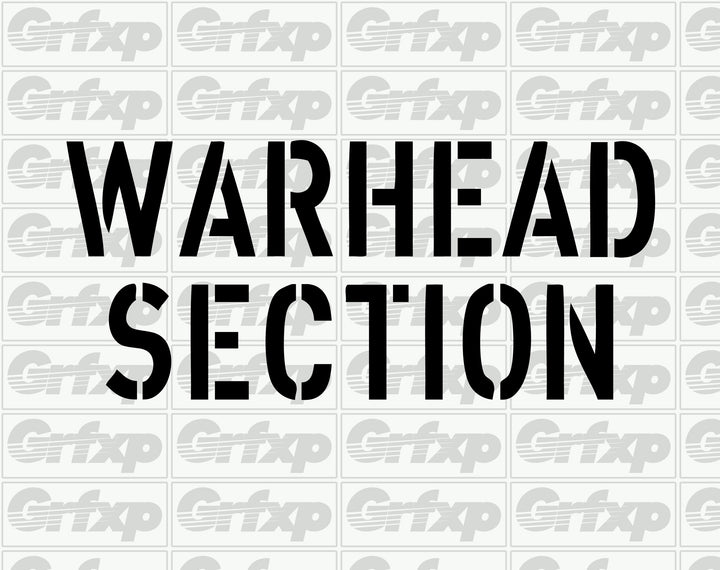 Warhead Section Sticker