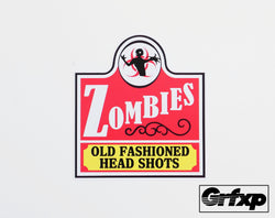 Old Fashioned Head Shots (Wendy's Style) Printed Sticker