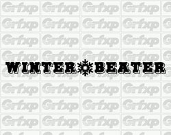 Winter Beater Banner Sticker