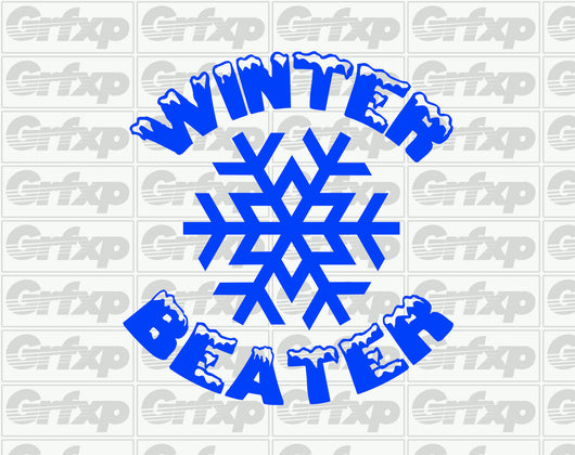 Winter Beater Round Snowflake Sticker