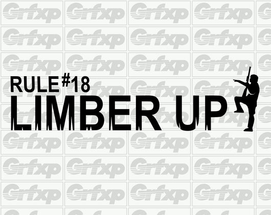 Zombieland Rule #18 Limber Up Sticker