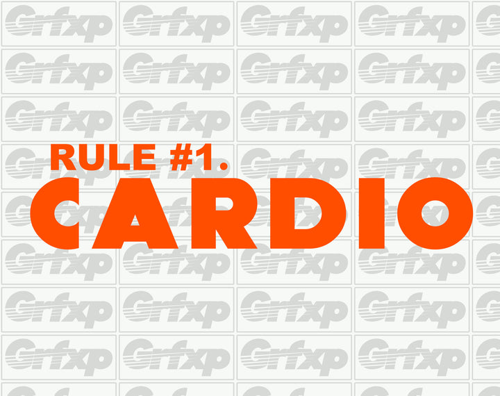 Zombieland Rule #1 - Cardio Sticker