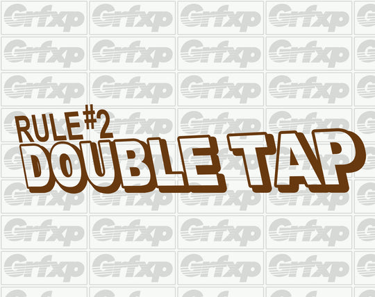 Zombieland Rule #2 - Double Tap Sticker