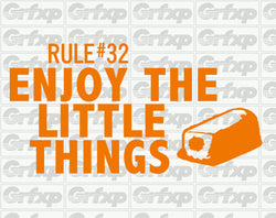 Zombieland Rule #32 Enjoy The Little Things Sticker
