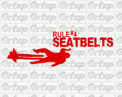 Zombieland Rule #4 Seatbelts Sticker