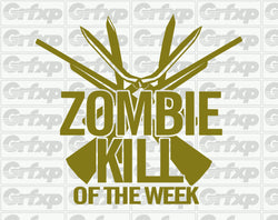 Zombieland - Zombie Kill of the Week Sticker