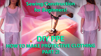 DIY PPE Protective Clothing - How to sew for Beginners, take measurements and patternmaking - PART 2