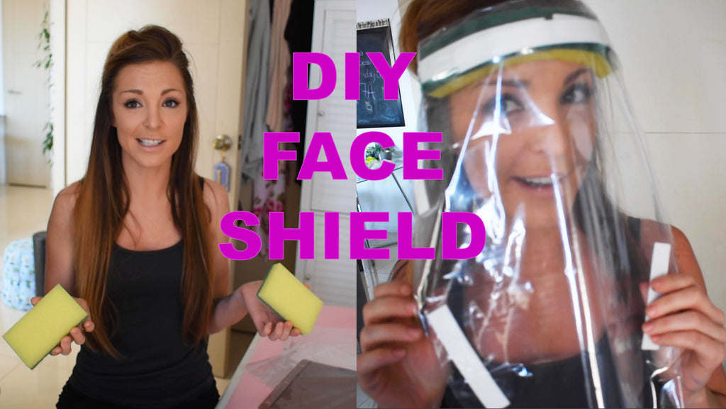 How To Make PPE Face Shield from materials found at home!
