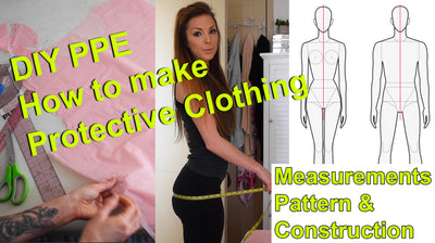 Basic Patternmaking & Sewing tutorial; How to Make protective clothing, take measurements DIY PPE