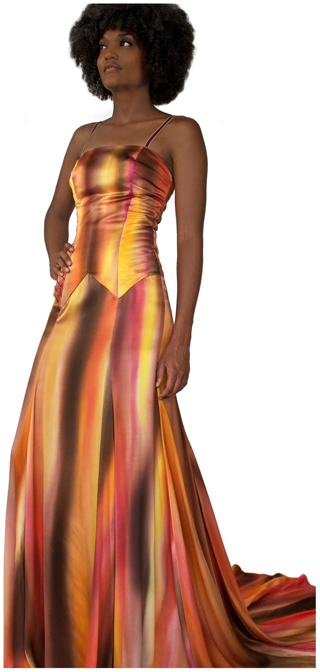 French-dye painted Mariah Gown - KxLNewYork
