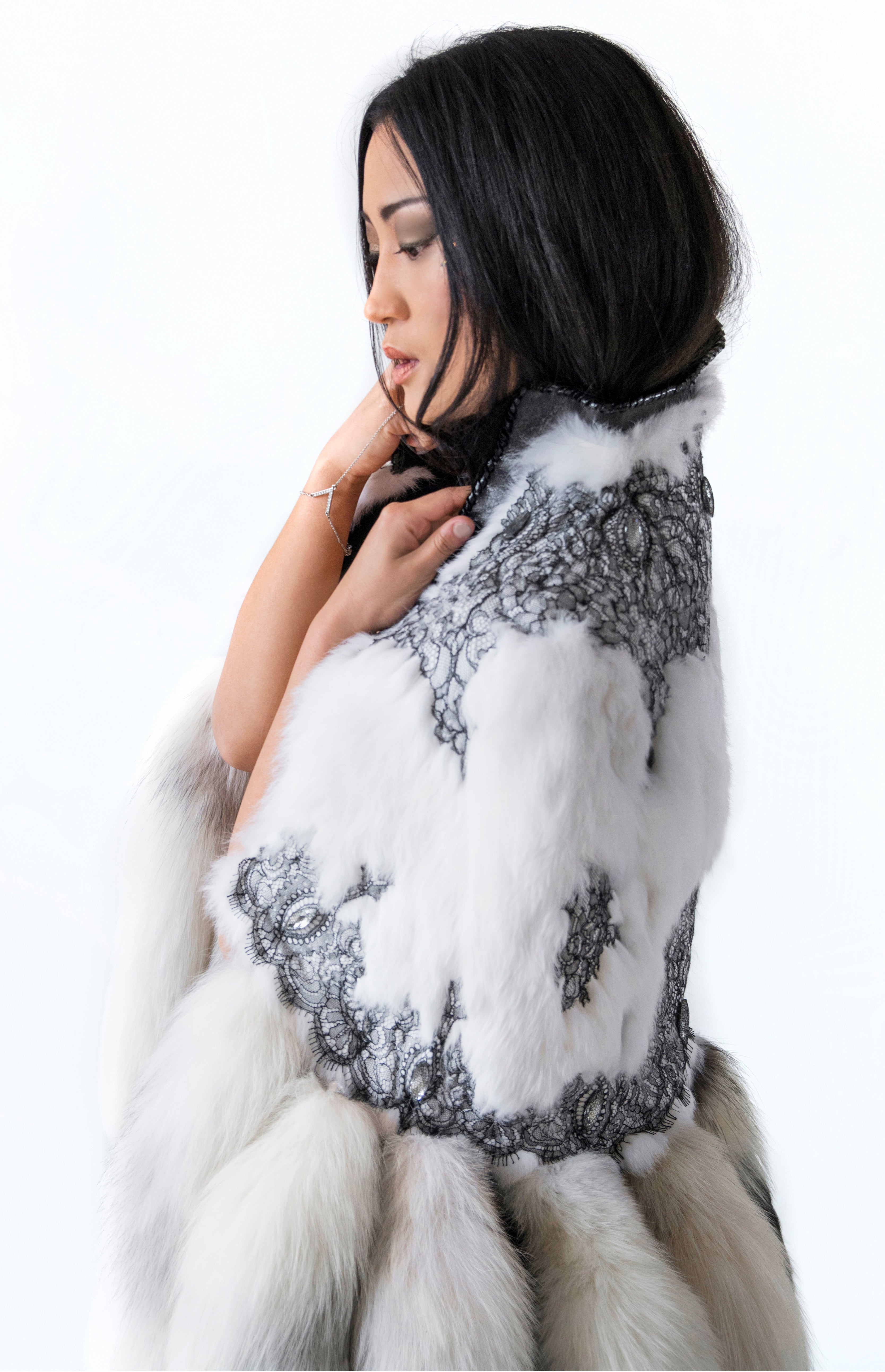 White winter evening with French lace - KxLNewYork